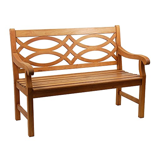 Stupendous Achla Designs 4 Foot Hennell Garden Bench Natural Machost Co Dining Chair Design Ideas Machostcouk