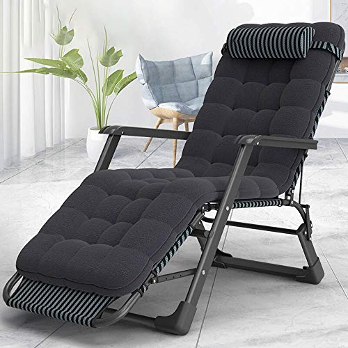 DEPRQ Folding Camping Bed Oxford Cloth Folding Bed Recliner Bed Accompanying Bed for Office Cotton Home Office Furniture…
