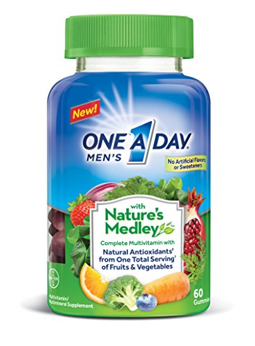 One A Day Men's with Nature's Medley Complete Multivitamin Supplement Gummies, 60 (Male Medley)
