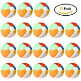 """Lumiparty Inflatable Beach Balls(18PACK) 7.5"""" Rainbow Colored Beach Balls Beach Balls Pool Party Toys Colorful Beach Balls Party Favors Perfect for Summer Parties Beach Sand & Water Or Swimming Pool"""
