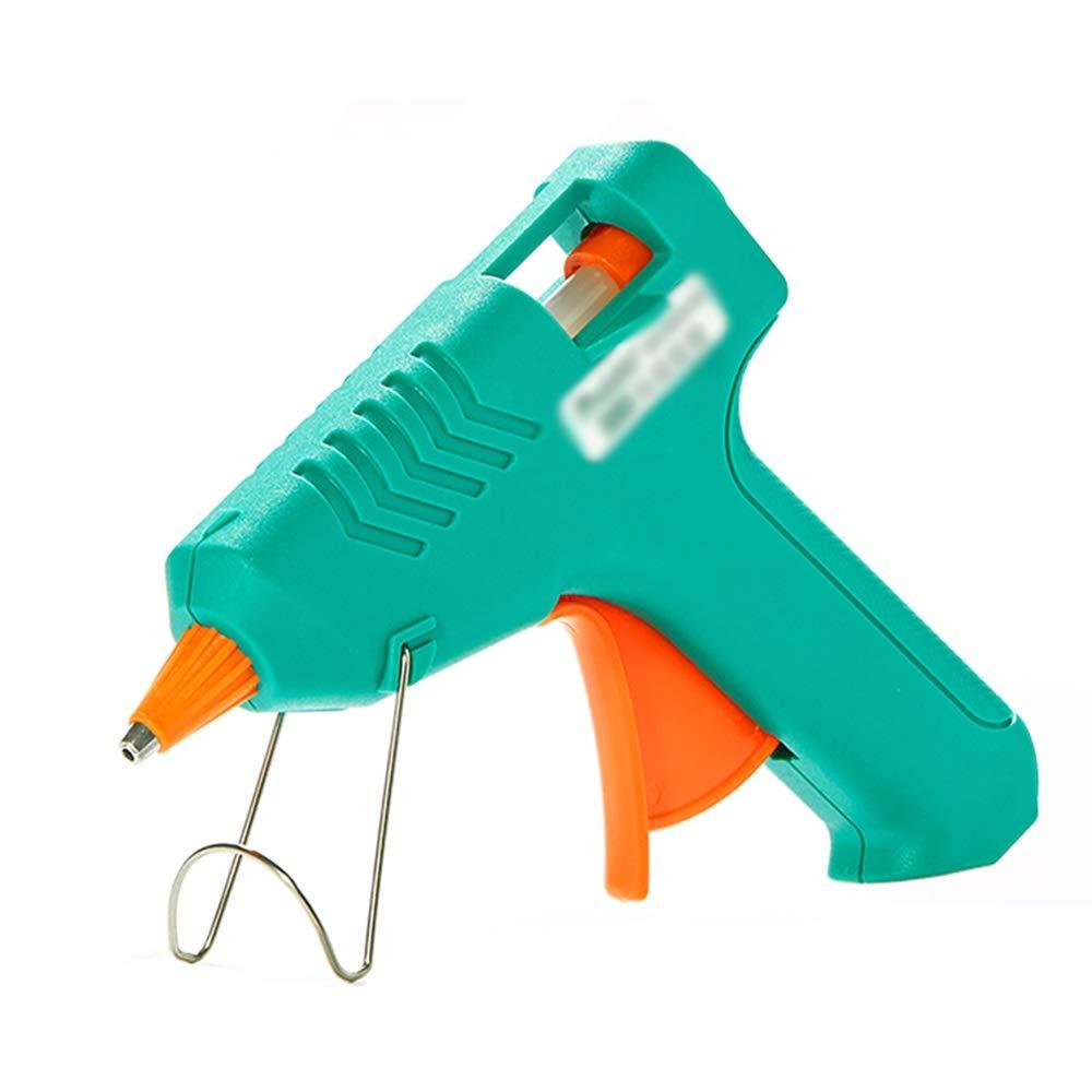 NingNing Adhesive Hot melt Glue Gun -10W, Mini Glue Gun, with 5 Glue Sticks, Leakage Protection - Suitable for DIY Home Creative Crafts, Art Creation, Practical Tools, Seal Repair (Green) Handicraft