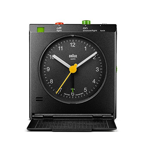 Quartz Alarm - Braun BNC005BKBK Classic Motion Analog Quartz Alarm Clock