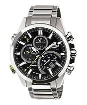 Casio EQB-500D-1AER Mens Edifice Black Silver Bluetooth Solar Powered Watch