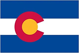 product image for Valley Forge, Colorado State Flag, Nylon, 3'x5', 100% Made in USA, Canvas Header, Heavy-Duty Brass Grommets