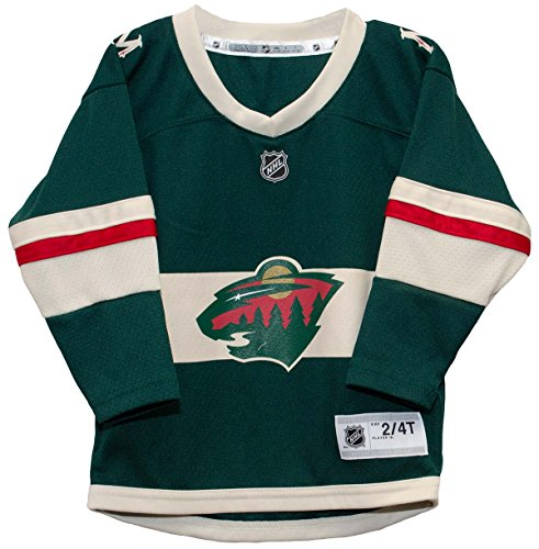 NHL by Outerstuff NHL Minnesota Wild Toddler Replica Jersey-Home, Dragon Green, Toddler ()