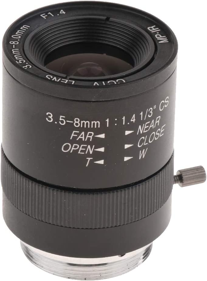 Almencla Cámara Zoom Varifocal, Manual Iris Zoom CS Mount Lens Sistema Seguridad