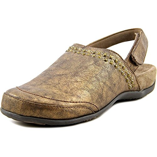 Vionic Telma Women Brown Metallic Clogs Bronze 4vdig