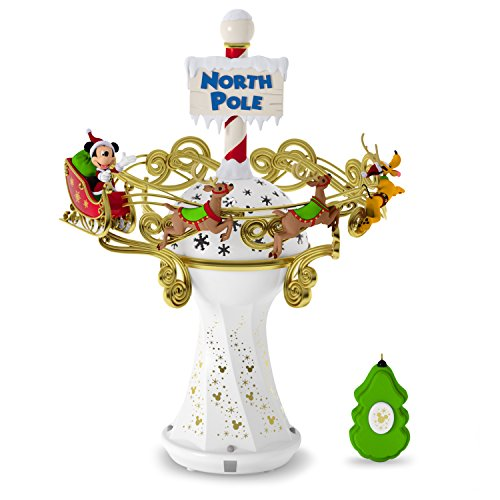 Hallmark Keepsake 2017 Disney Mickey Mouse Oh, What Fun! Tree Topper With Light and Music (Toppers Tree Disney)