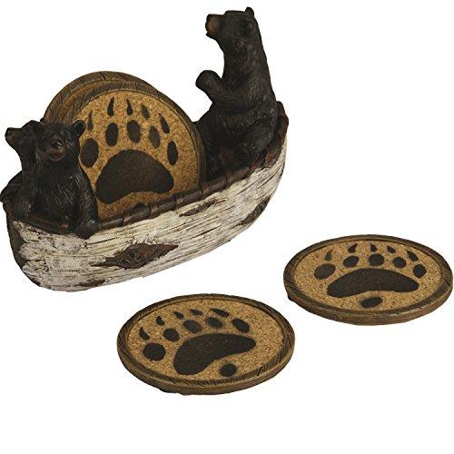 River's Edge Bears in Boat Coaster Set