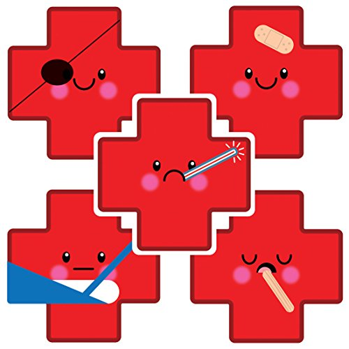 SmileMakers Shaped Emoji Medical Cross Stickers - Prizes and Giveways - 100 per Pack]()