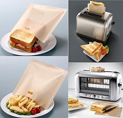 KisSealed Toaster Bags,Pack of 20 Non Stick Toaster Bags Reusable and Heat Resistant Easy to Clean,Perfect for Sandwiches Pastries Pizza Slices Chicken Nuggets Fish Vegetables Panini /& Garlic Toast