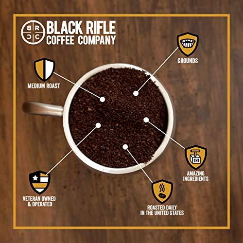 Black Rifle Coffee Ground (CAF (Medium, 2x Caffeine), 12 Ounce)
