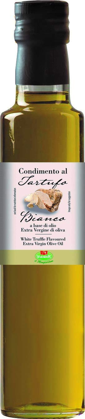 Truffle Oil (8.45 Ounce) - White Truffle in EVOO - Real Truffle Oils - Pure Infused White Truffle Oil - Best Truffle Oil From Italy - Aceite de Trufa - Tartufo Bianco. By Serendepity Life (1 Pack) by Serendipity Life