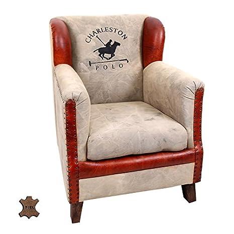 Poltrona Classica Da Lettura.Indhouse Poltrona Da Lettura Vintage In Pelle Charleston