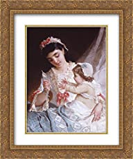 7397f260b432 Emile Munier 2X Matted 20x24 Gold Ornate Framed Art Print  Distracting The  Baby