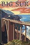 California Coast - Bixby Bridge (12x18 Art Print, Wall Decor Travel Poster)