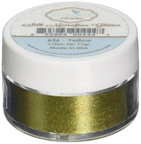 Elizabeth Crafts Silk Microfine Glitter 11 Grams-Yellow