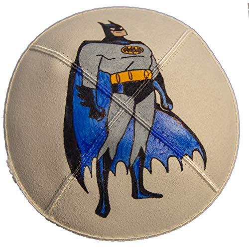 - Hand-painted Kippah (Yarmulke) with Batman