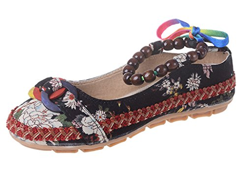 mujer de Zapatos negro tacón GFONE xgCq68TwgS