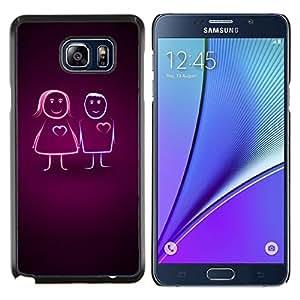 """Be-Star Único Patrón Plástico Duro Fundas Cover Cubre Hard Case Cover Para Samsung Galaxy Note5 / N920 ( Parejas Amor"""" )"""