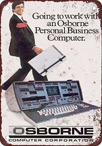 1981Osborne computadora portátil, diseño clásico de reproducción Tin Sign–Placa de metal 30,5x 45,7cm