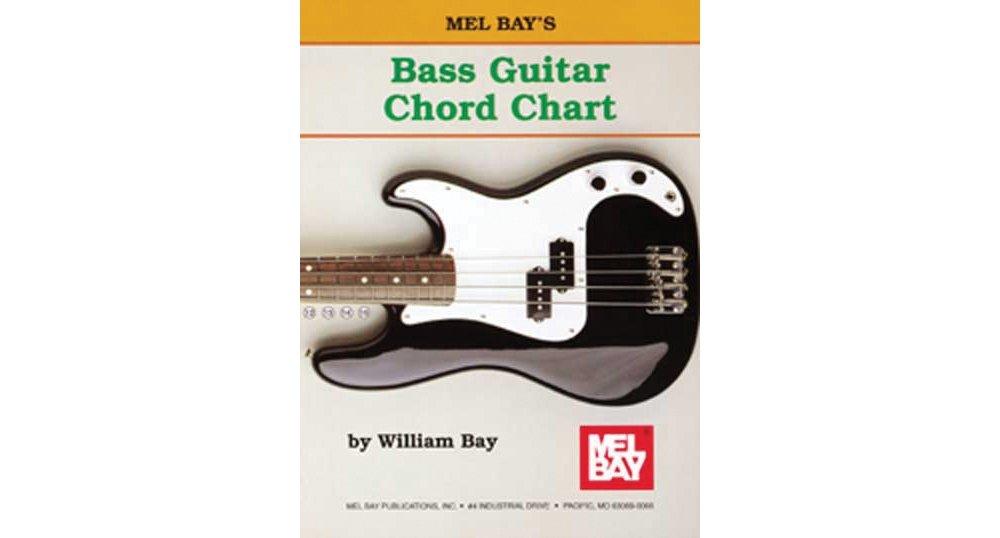 Amazon Mel Bay Bass Guitar Chord Chart 0796279001113 Mel Bay