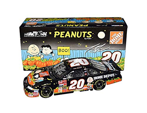 2X AUTOGRAPHED 2002 Tony Stewart & Greg Zipadelli (Crew Chief) #20 Home Depot Racing HALLOWEEN IN SEARCH OF THE GREAT PUMPKIN Rare Dual Signed Action Collectible 1/24 Scale NASCAR Diecast -