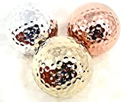 TROPHYGOLF 3 Olympic Colored Golf Balls, Gold/Silver/Bronze