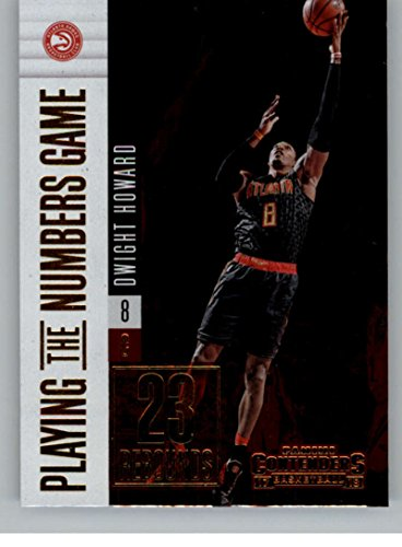 - 2017-18 Panini Contenders Playing the Numbers Game #24 Dwight Howard Hawks Basketball Card
