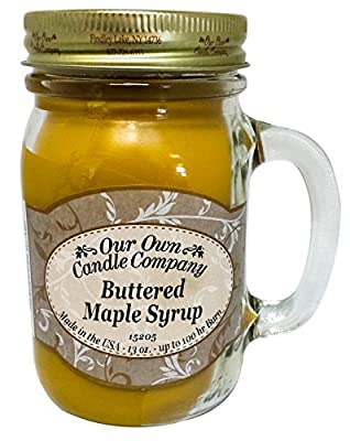 Buttered Maple Syrup Scented 13 Ounce Mason Jar Candle By Our Own Candle Company