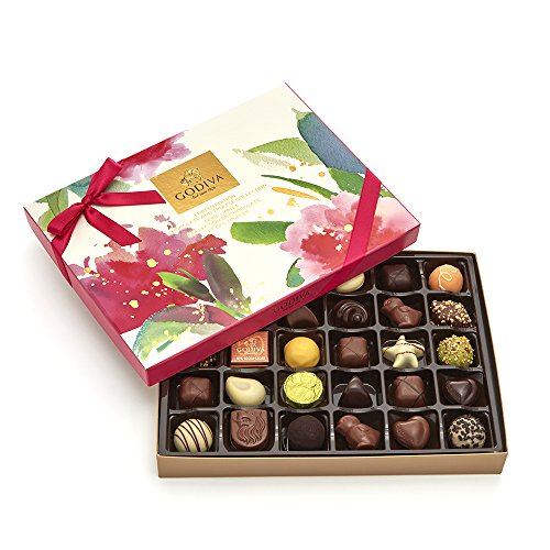 Godiva Chocolatier Assorted Gourmet Chocolate Spring Gift Box, 32 pc, Great for (Godiva Spring)