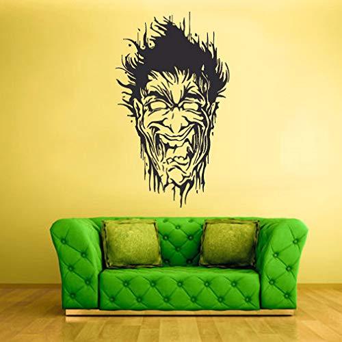 Home Decor-Wall Vinyl Decal Sticker Bedroom Decal Zomby Head Horror Halloween