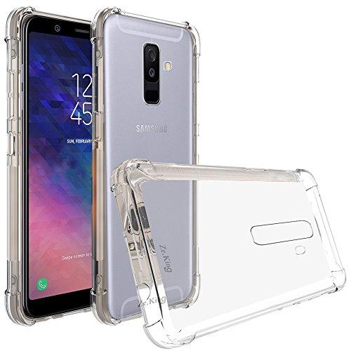 ZeKing Samsung Galaxy A6 Plus 2018 Case, Crystal Clease Anti-Scratch Flexible TPU Rubber Soft Skin Silicone Premium Protective Case (Transparent)