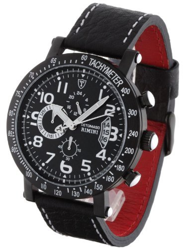 DeTomaso Men's Rimini Chronograph Watch Dt1002-A Black