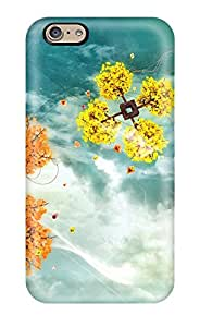 Queenie Shane Bright's Shop New Style 6151842K95038136 Protective Case For Iphone 6(colorful Sky Trees)