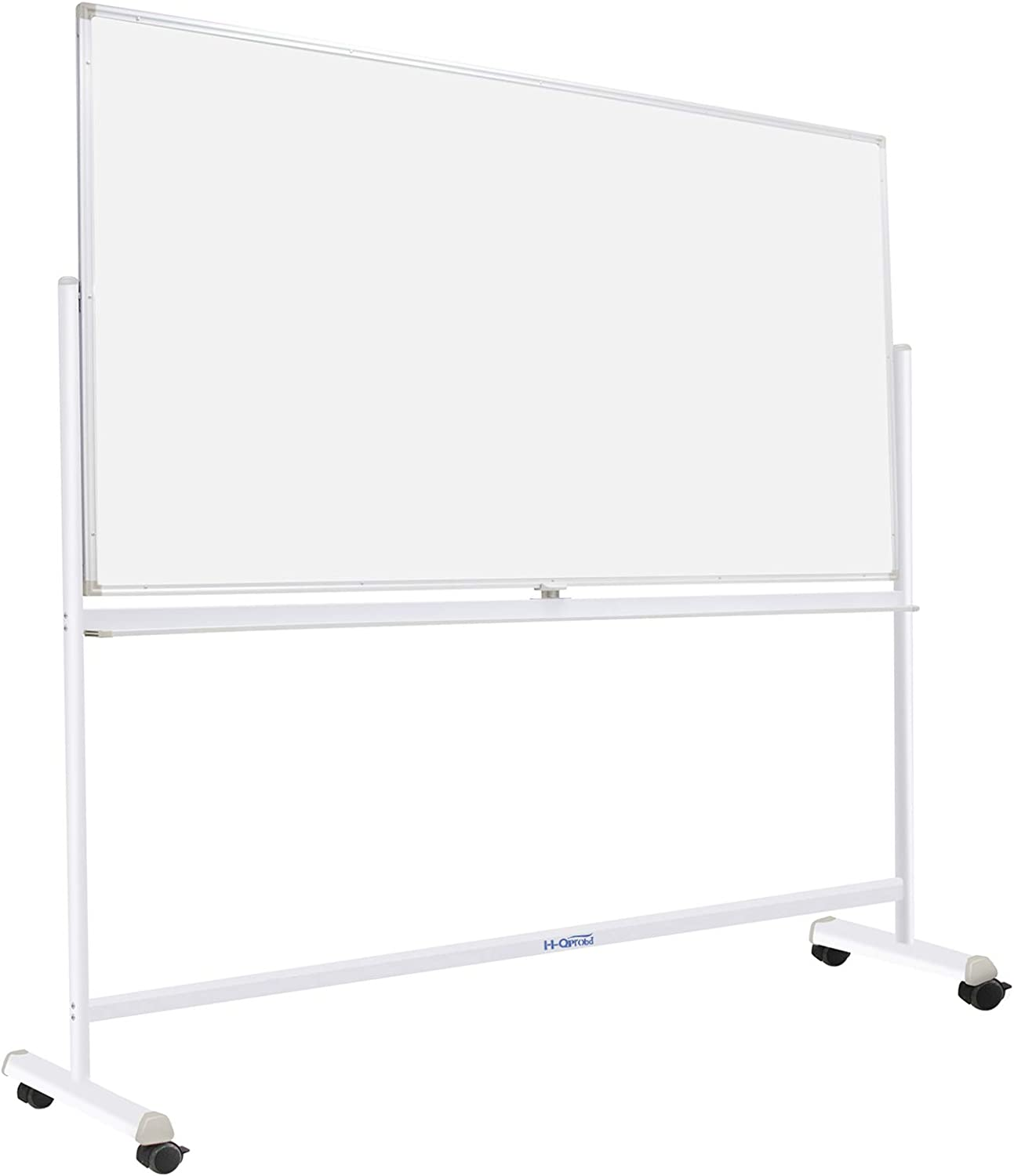 """Dry Erase Board with Sturdy Stand, Double-Sided 72""""x40"""" Mobile Magnetic Whiteboard on Wheels for Kids & Adult - 360° Rotating Comercial Rolling White Boards for Office, Home & School"""