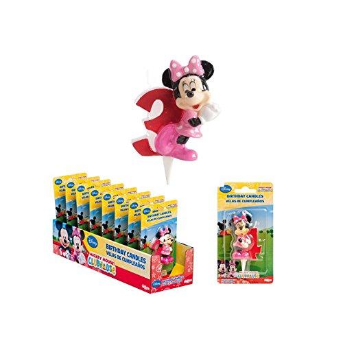 Vela Disney Minnie - Número 3 - decoración Gateau ...