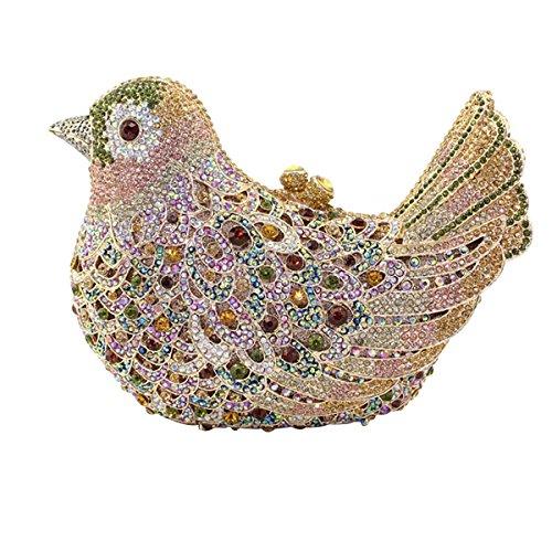 Women's Bird Hand Green Luxury Evening Bag Diamond qWHB4rAZq
