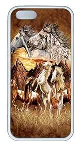 Find 15 Horses Custom iPhone 5s/5 Case Cover TPU White