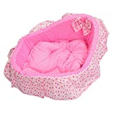 SODIAL(R) Deluxe Plush Cushion Pet Mat Dog Cat Puppy Soft Sleeping Pad Bed Nest pink S For Sale