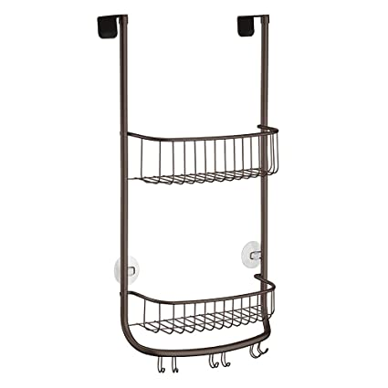 Amazon.com: InterDesign InterDesign Forma Over Door Shower Caddy ...