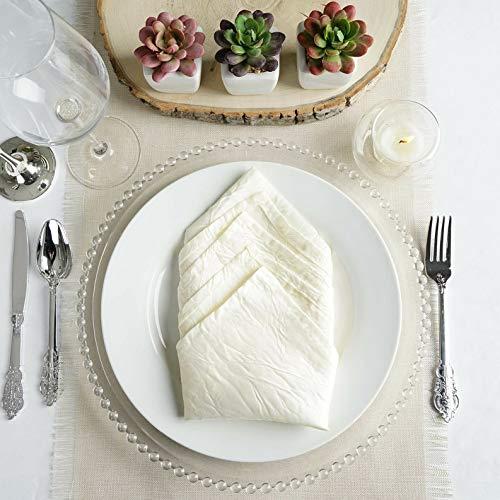 Mikash 20 Taffeta Crink Napkins Wedding Party Shower Table Supply Decorations | Model WDDNGDCRTN - 7700 | 20 pcs