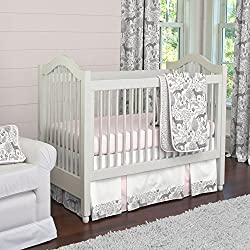 Carousel Designs Pink and Gray Woodland 3-Piece Crib Bedding Set