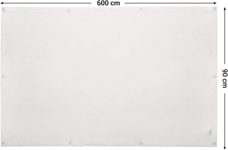 600 x 90 cm Paravento in Poliestere Resistente all/'Acqua Panna GCO90IV Corda Inclusa e Occhielli in Alluminio SONGMICS Frangivista Frangivento per Balcone Terrazzo