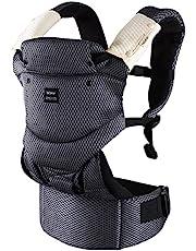 Bebamour Bärsele 3-36 månader 3D Air Mesh Baby Carrier Sling för spädbarn och småbarn Andningsbar Baby Carrier Wrap