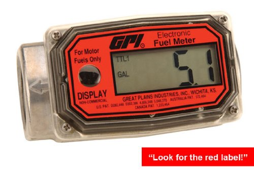 GPI 01A Series Economy Digital Fuel meter by GPI