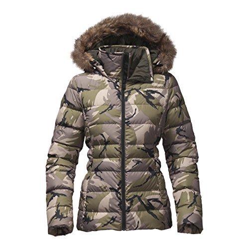4275c215d The North Face Women's Gotham Jacket II - Burnt Olive Green Disrupt Camo -  XL (Past Season)