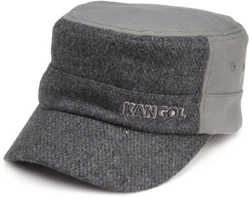 Kangol Men's Textured Wool Army Cap, Flannel, -