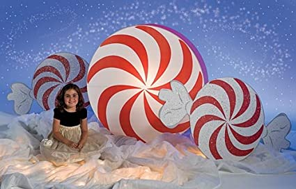 stumps giant peppermint candy christmas decoration by shindigz