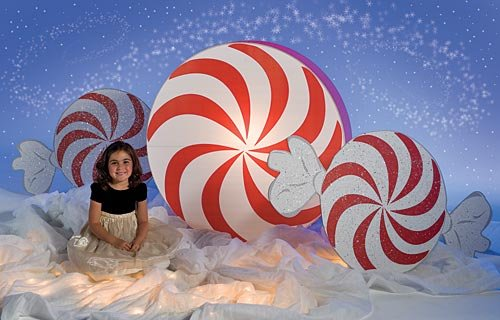 Giant Peppermint Candy Christmas Decoration by Shindigz